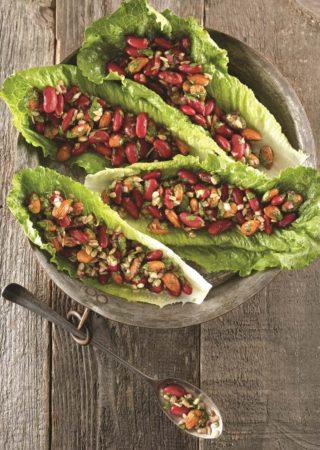salade de haricots rouges aux amandes