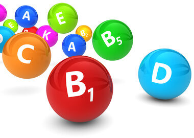 Vitamins sign and symbol healthy lifestyle concept 3D illustration.